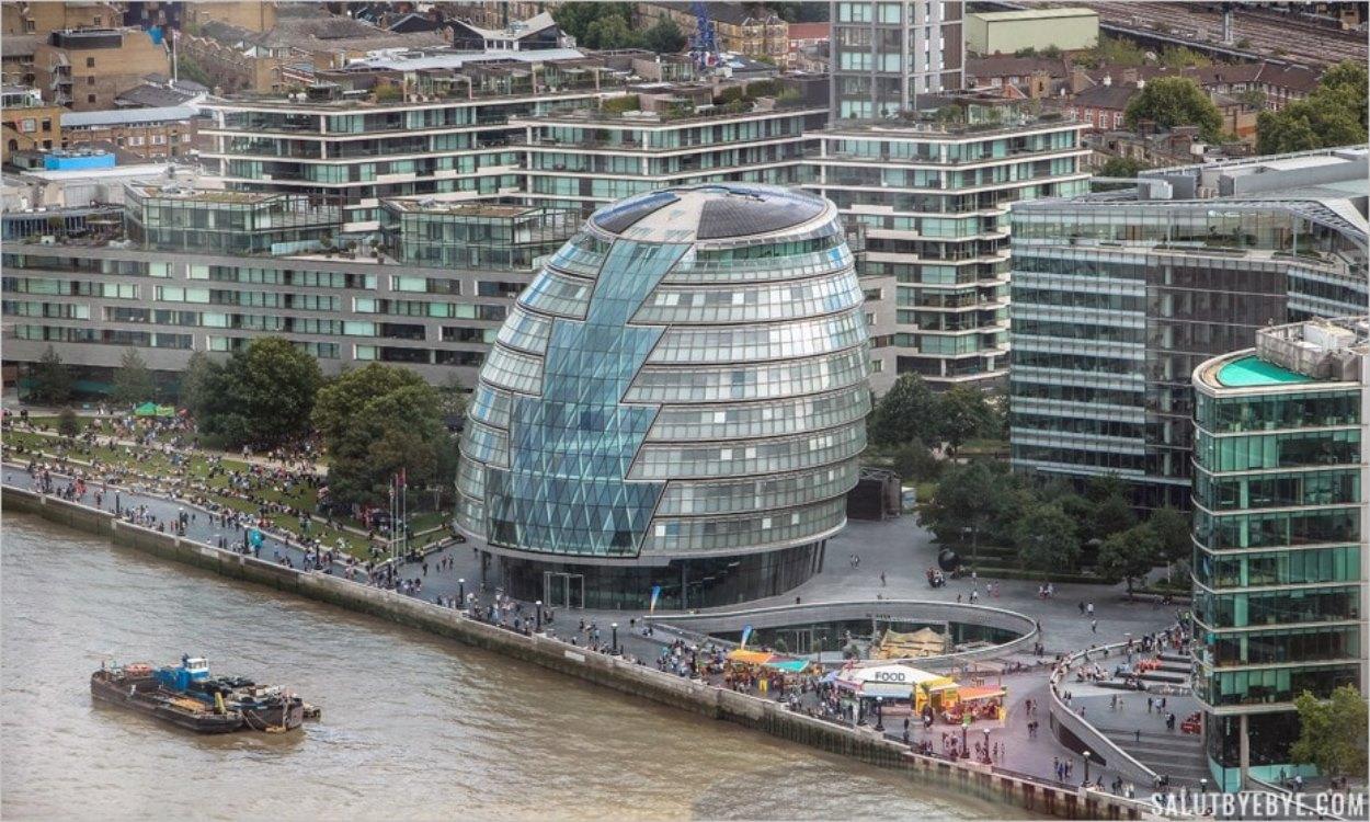 Le City Hall de Londres vu depuis le SkyGarden