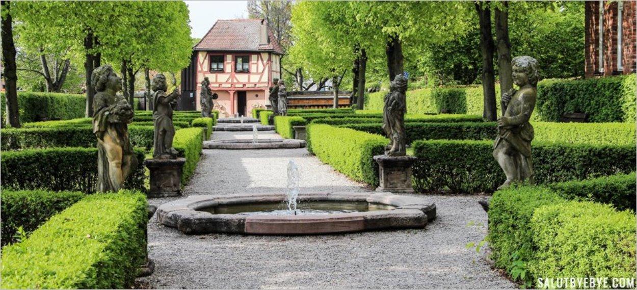Les fontaines des Hesperidengärten de Nuremberg