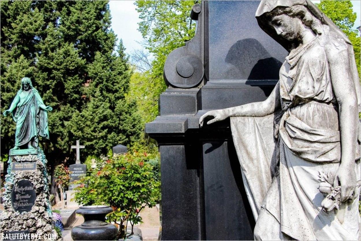 Une sculpture du cimetière St Jean de Nuremberg