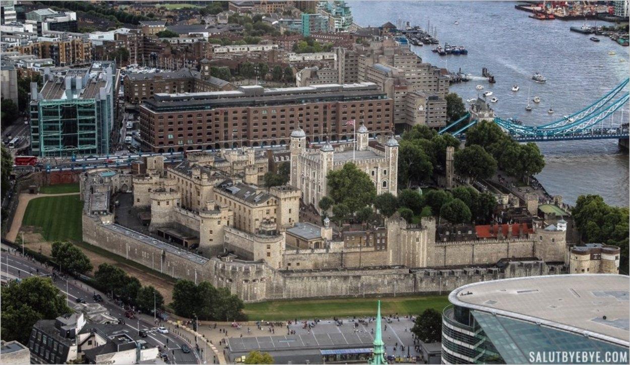 La Tour de Londres vue depuis le SkyGarden
