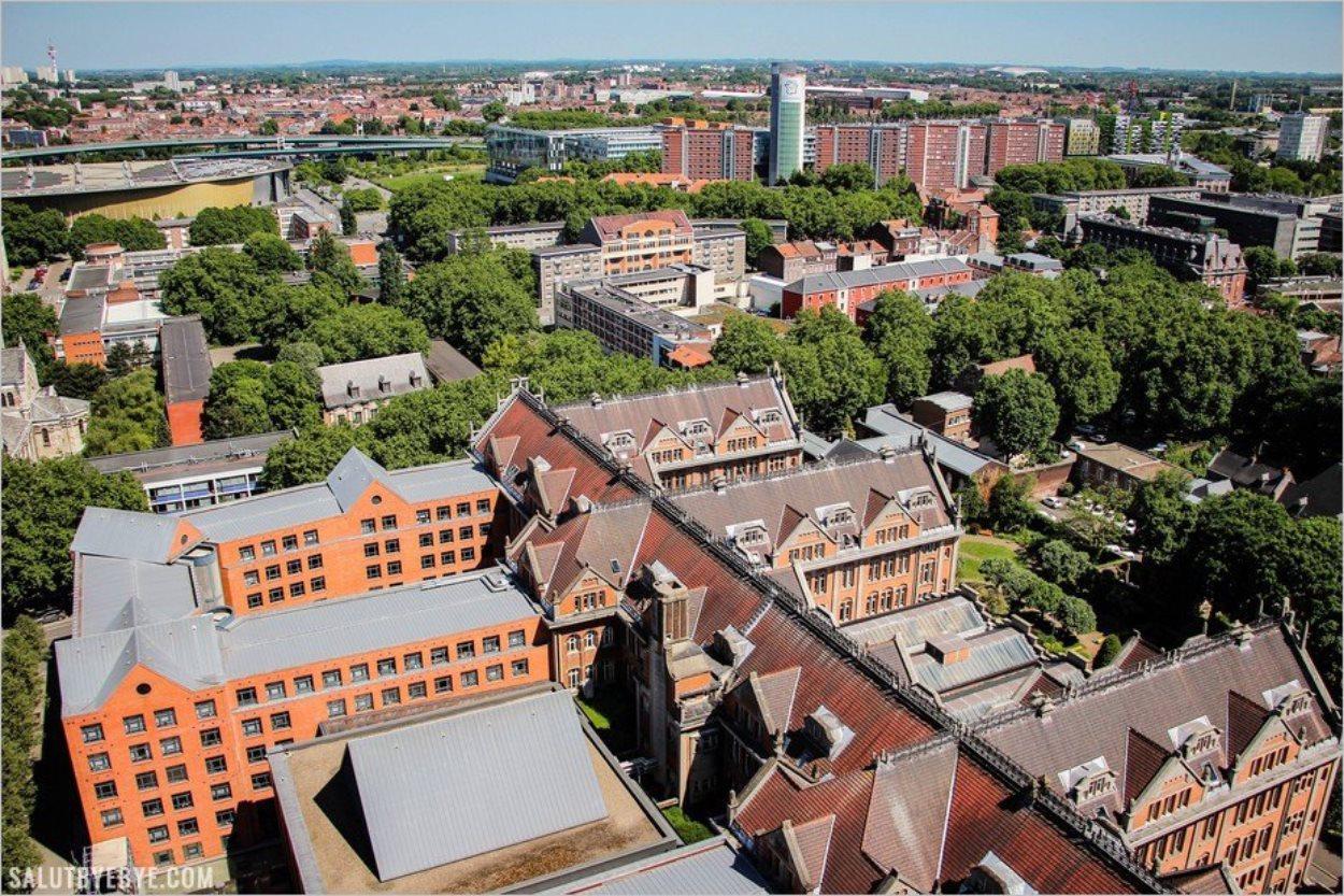 La vue en direction de Lille Fives et du Grand Palais
