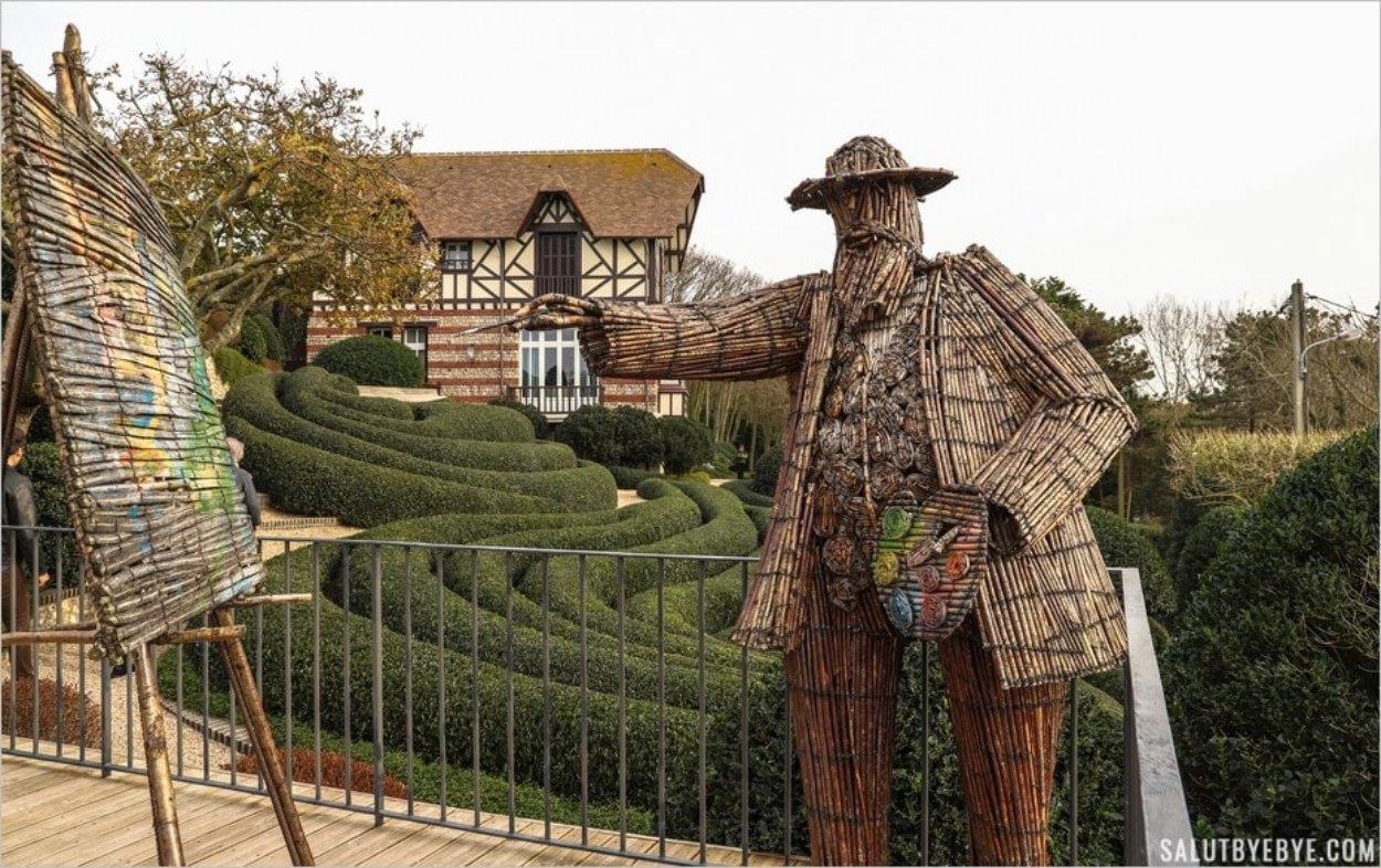 Claude Monet sculpté par l'artiste polonais Wiktor Szostalo