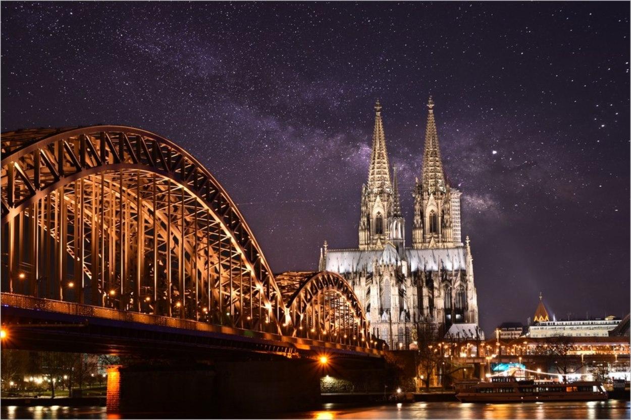 Cologne et sa cathédrale en hiver