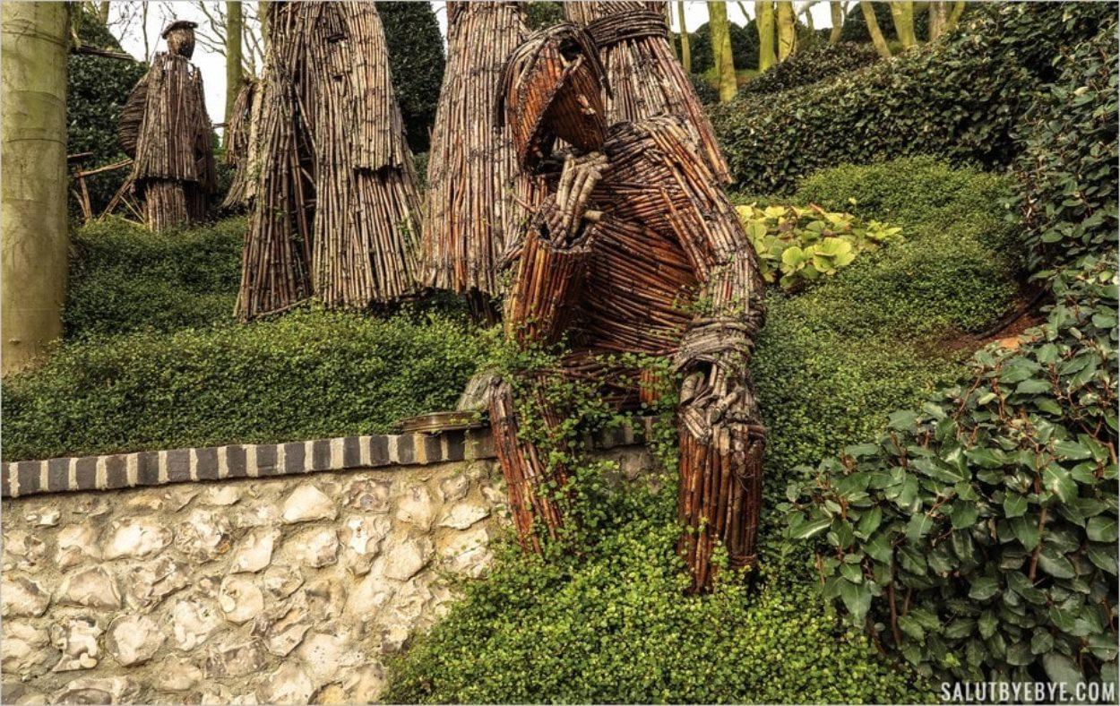 Sculpture en bois à Etretat