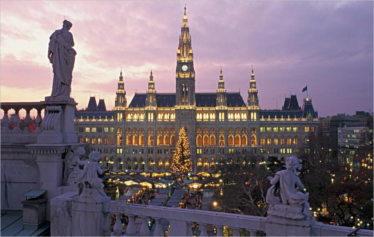 Vienne en Autriche, en hiver