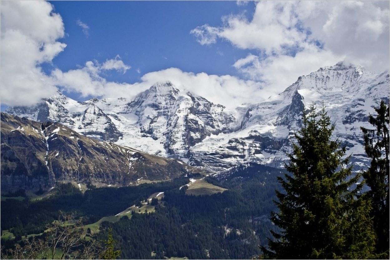 Vue depuis Mürren en Suisse