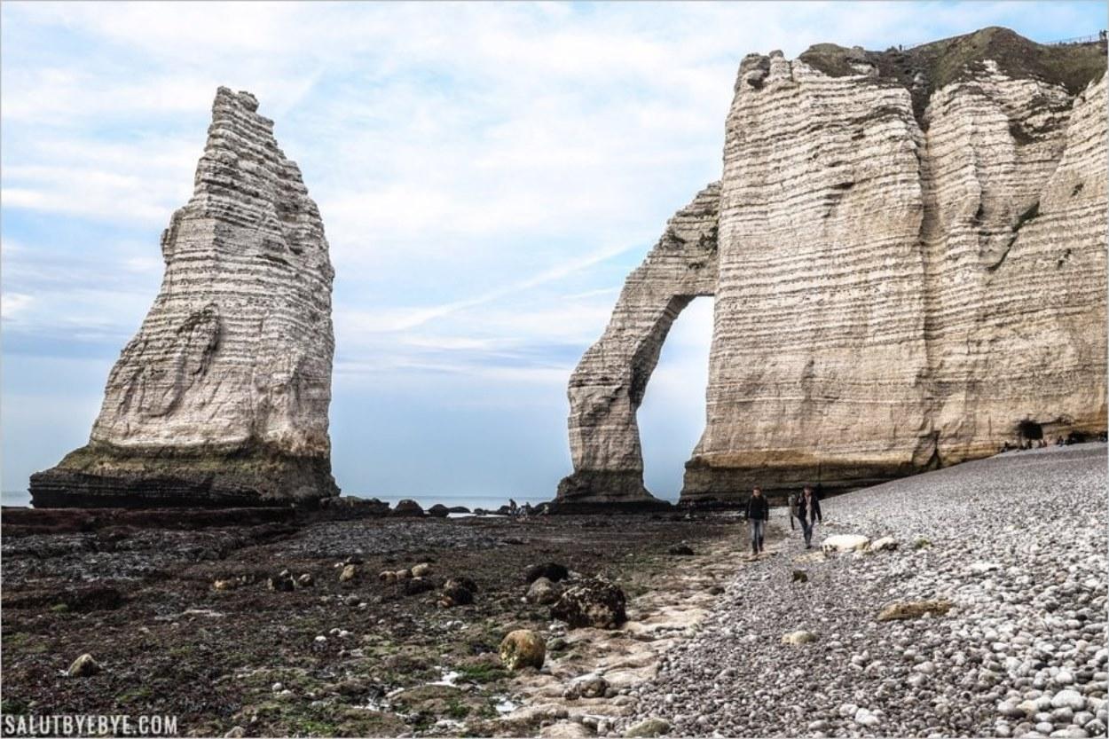 L'Aiguille d'Etretat vue depuis la plage