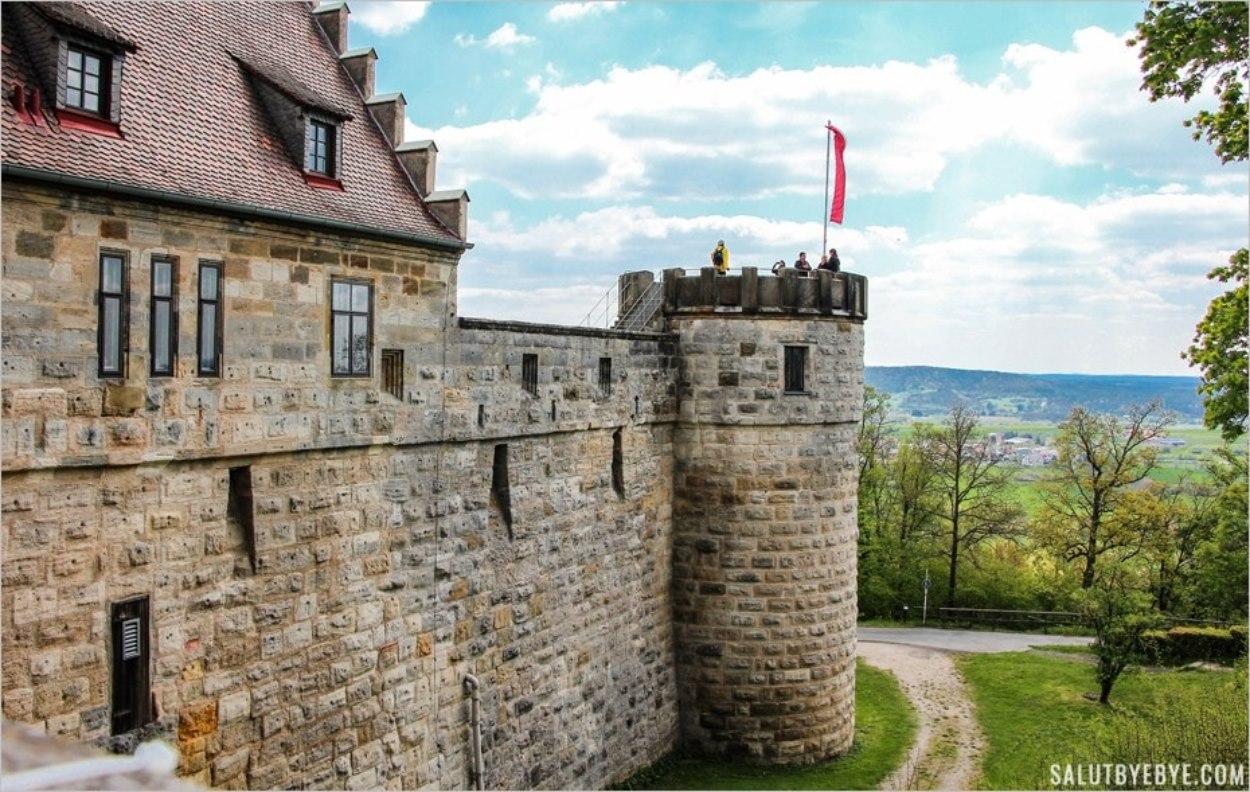 Les remparts de l'Altenburg sur les collines de Bamberg