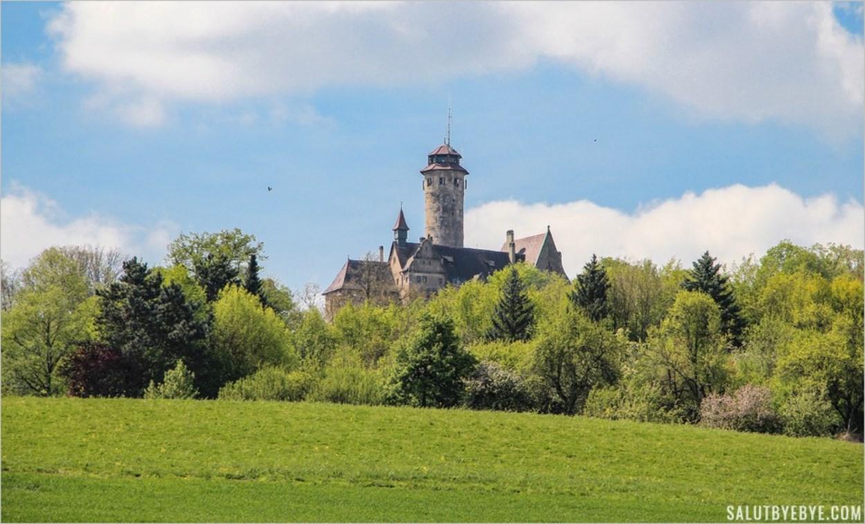 L'Altenburg, château de Bamberg, vu depuis le sentier