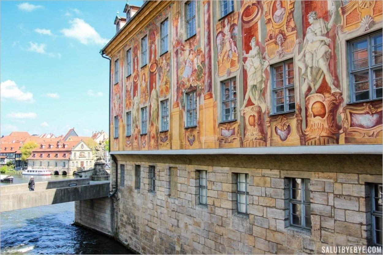 Les fresques baroques de la Altes Rathaus à Bamberg