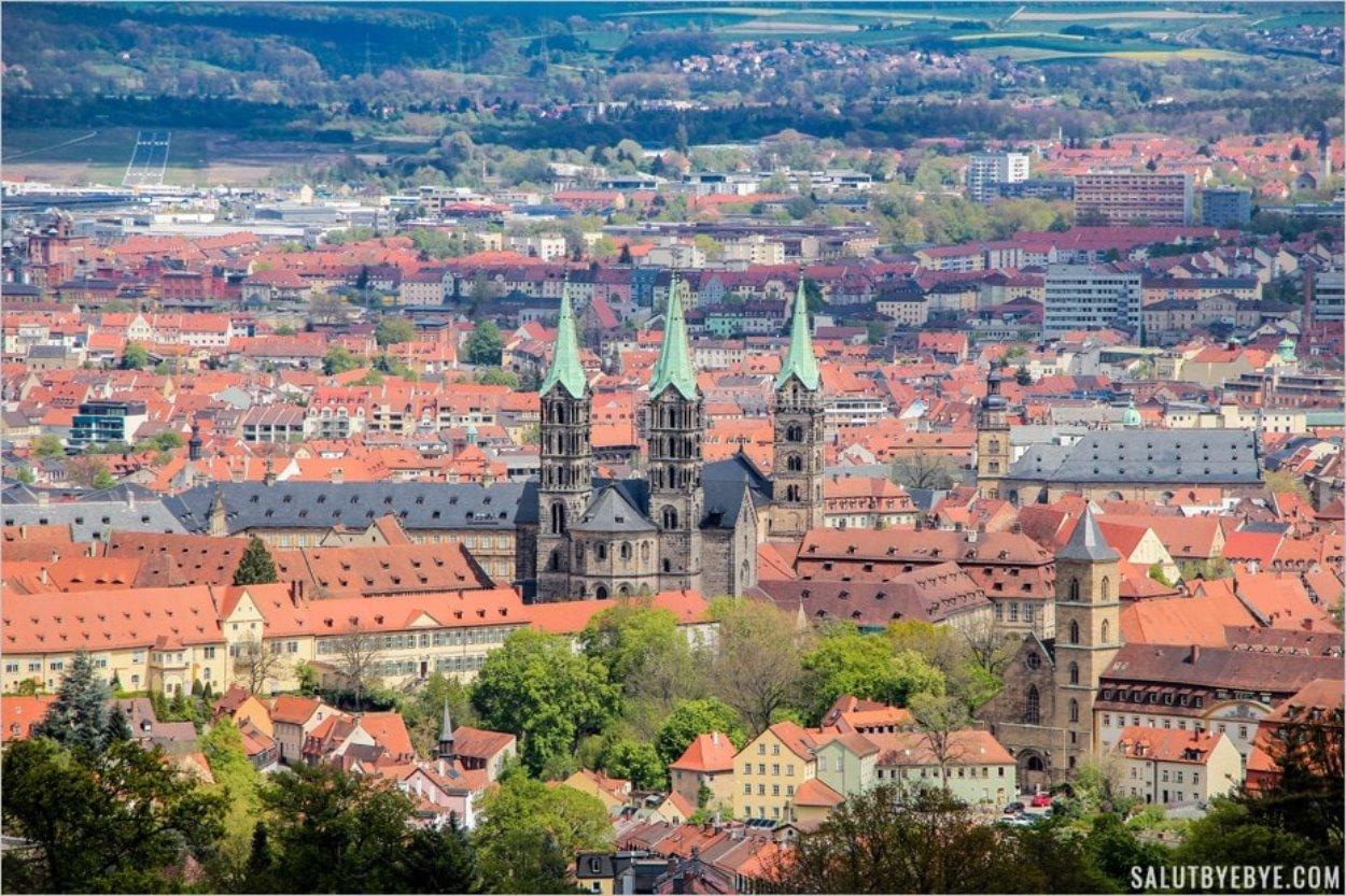 Bamberg en Allemagne vue depuis le château