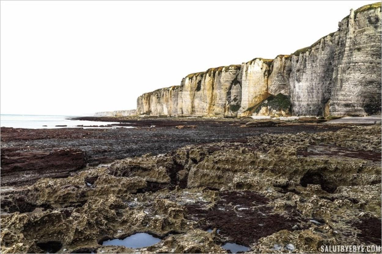 La côte entre Etretat et Fécamp au Chaudron