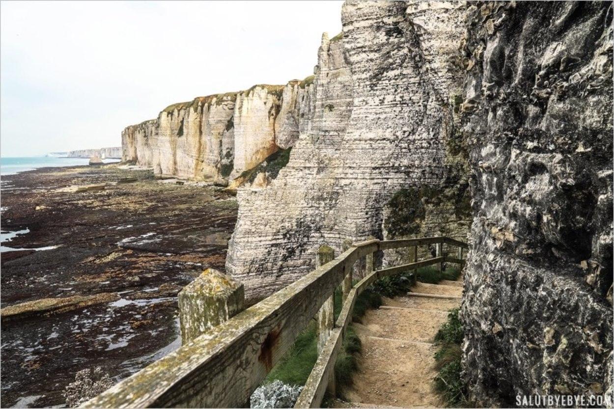 L'escalier du Chaudron à Etretat