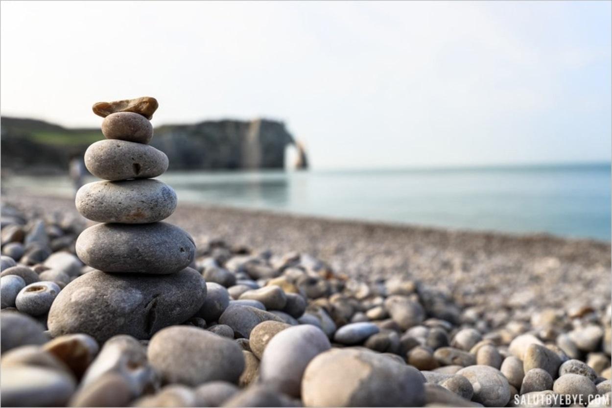 Ambiance zen à Etretat en Normandie