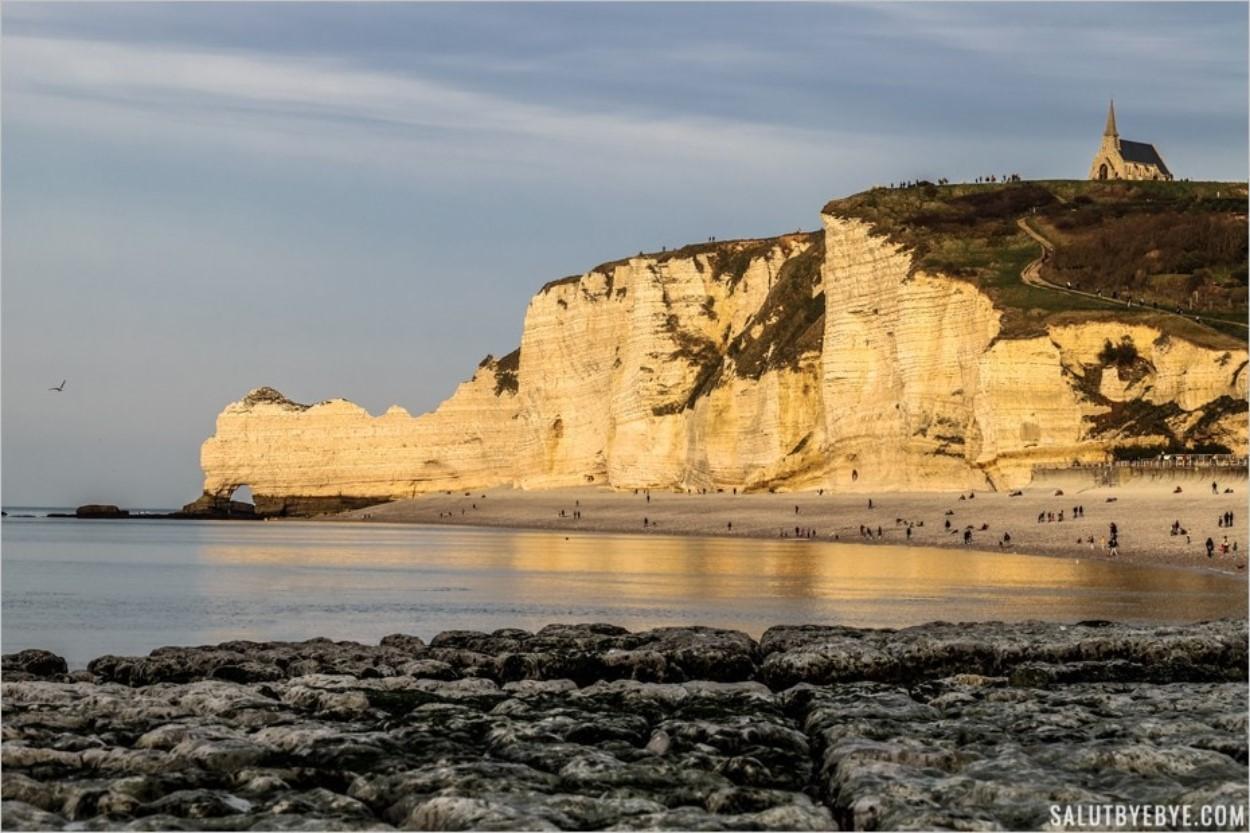 Falaises d'Etretat : la falaise d'Amont