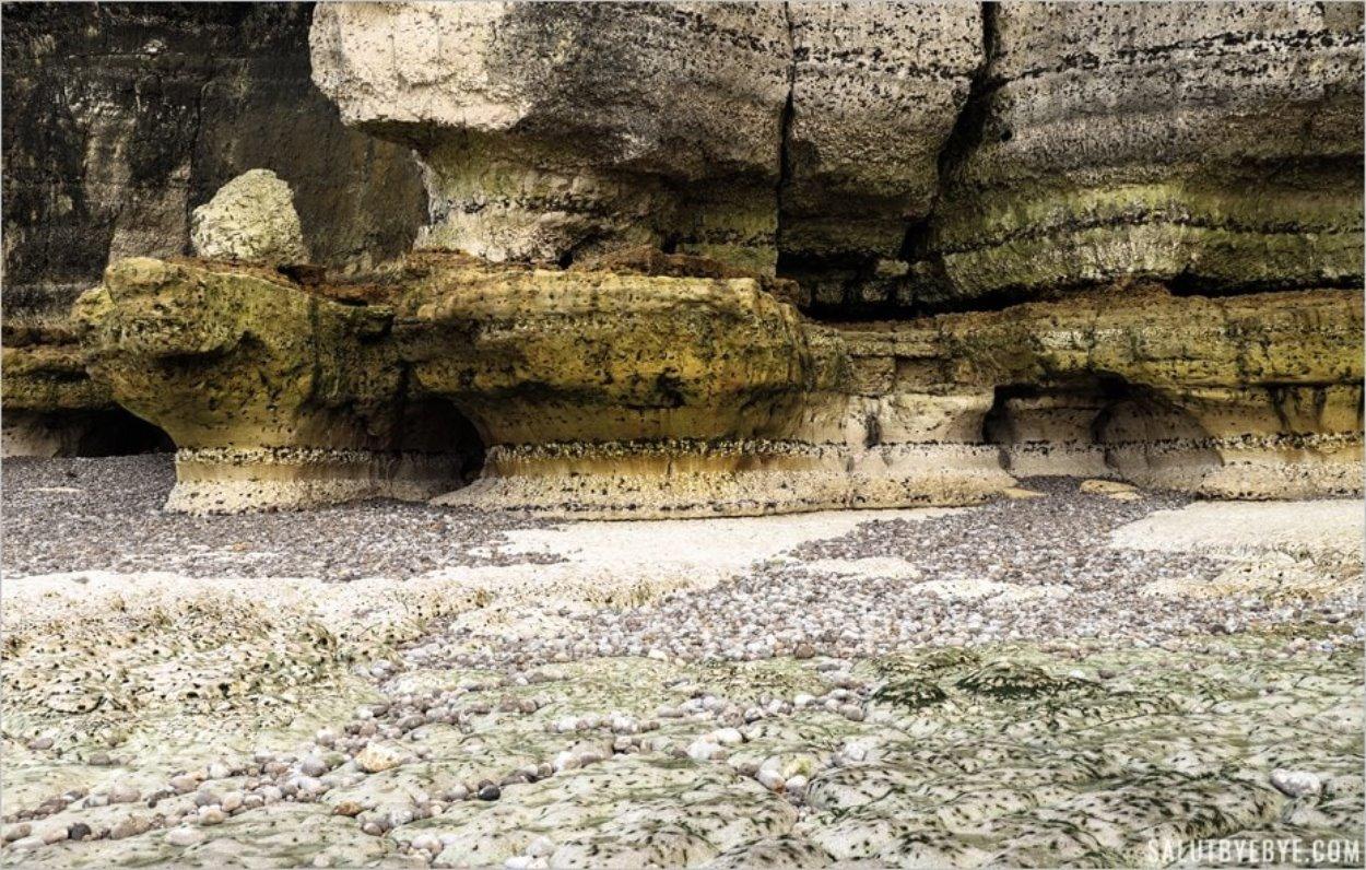 Falaises d'Etretat : la falaise d'Aval