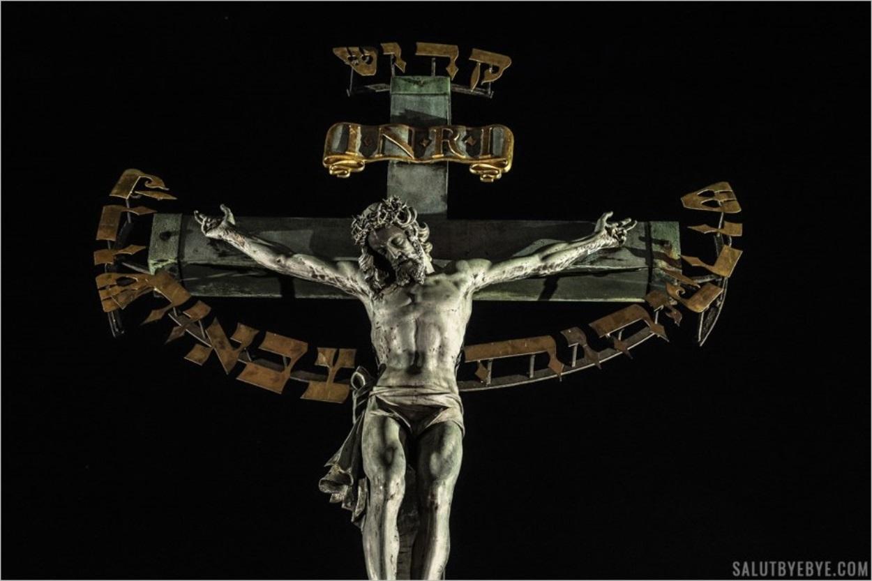 Sculpture du Christ sur le Pont Charles