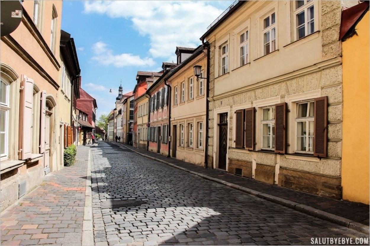 Les rues de Bamberg en Bavière