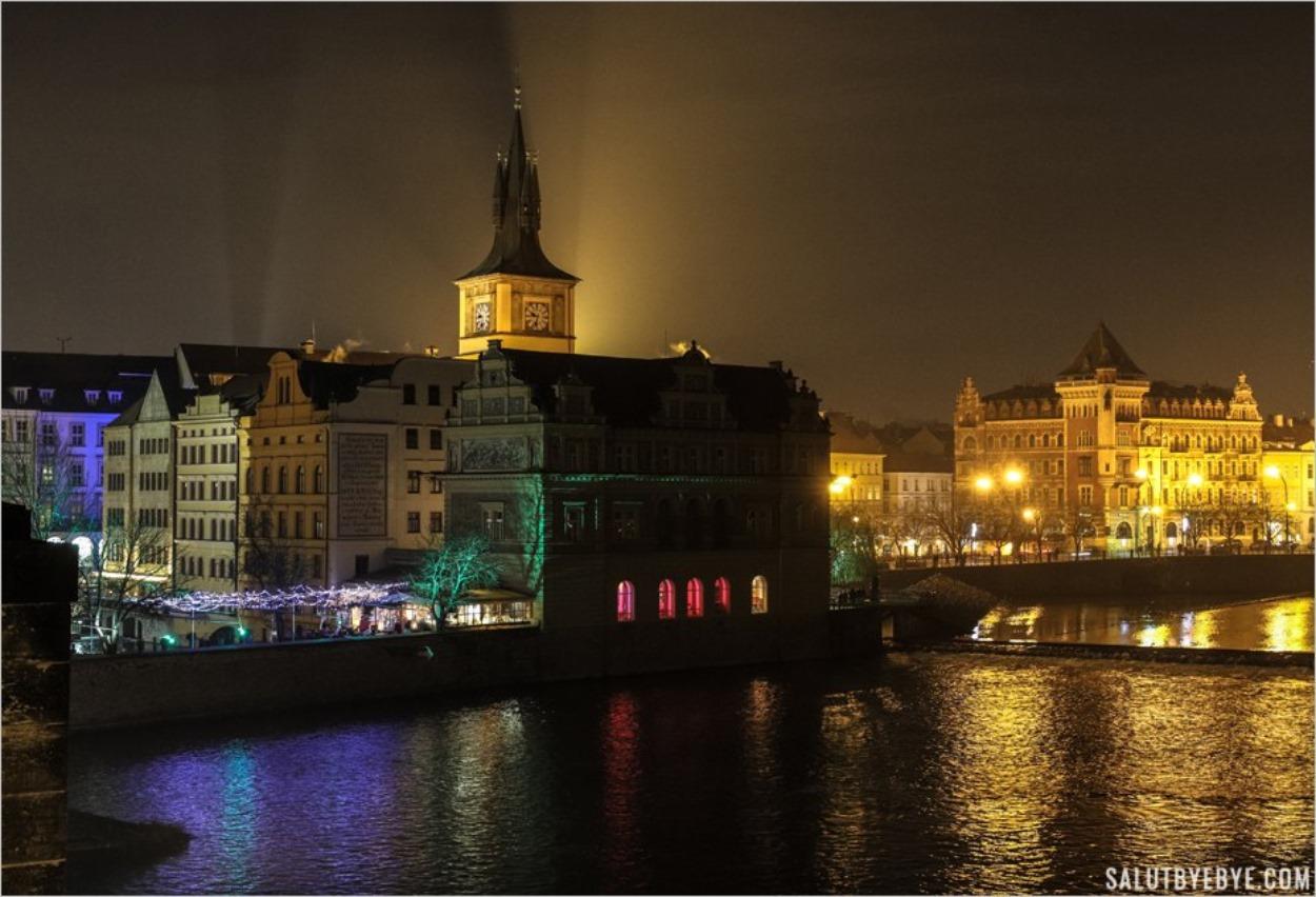 Vue depuis le Pont Charles à Prague