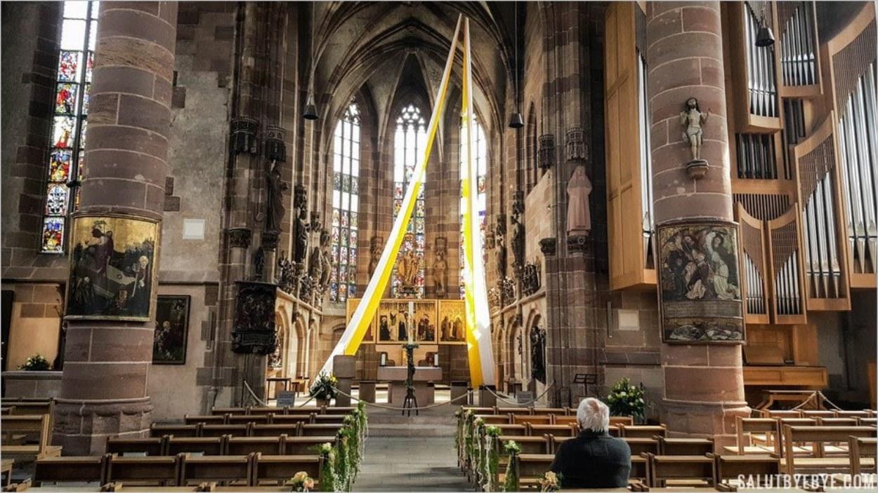 L'intérieur de la Frauenkirche de Nuremberg