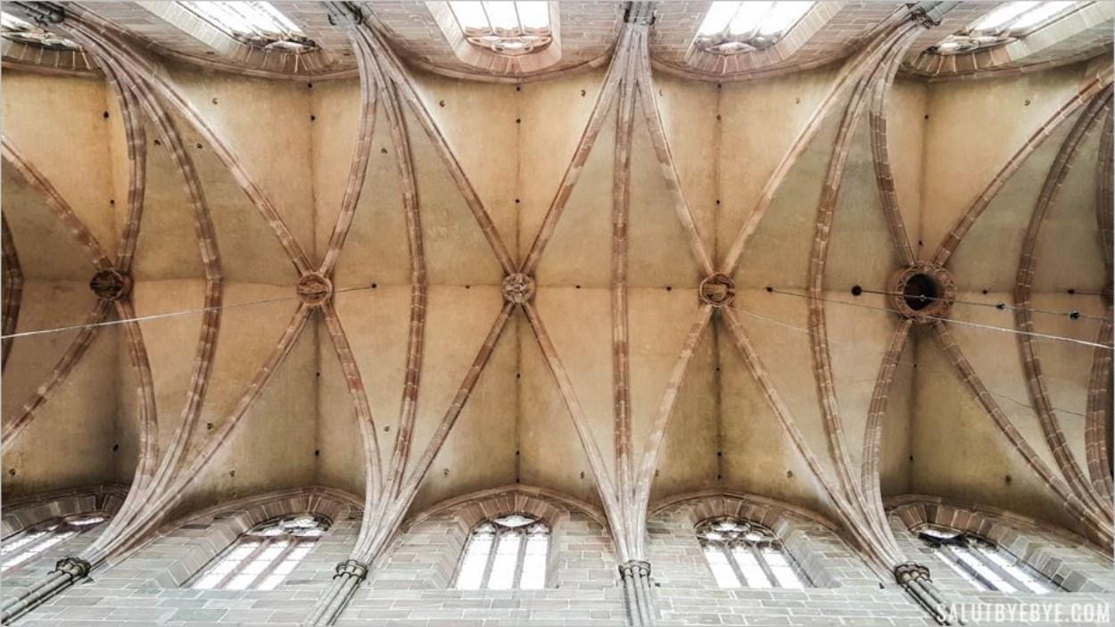 La superbe voûte de l'Eglise Saint-Laurent de Nuremberg