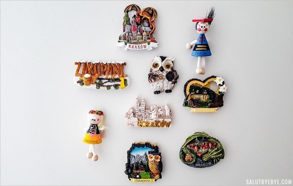 Magnets de Cracovie et de Zakopane