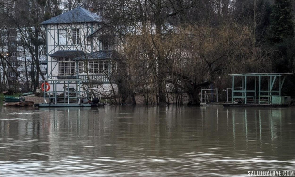 Maison des Bords de Marne pendant la crue de 2018