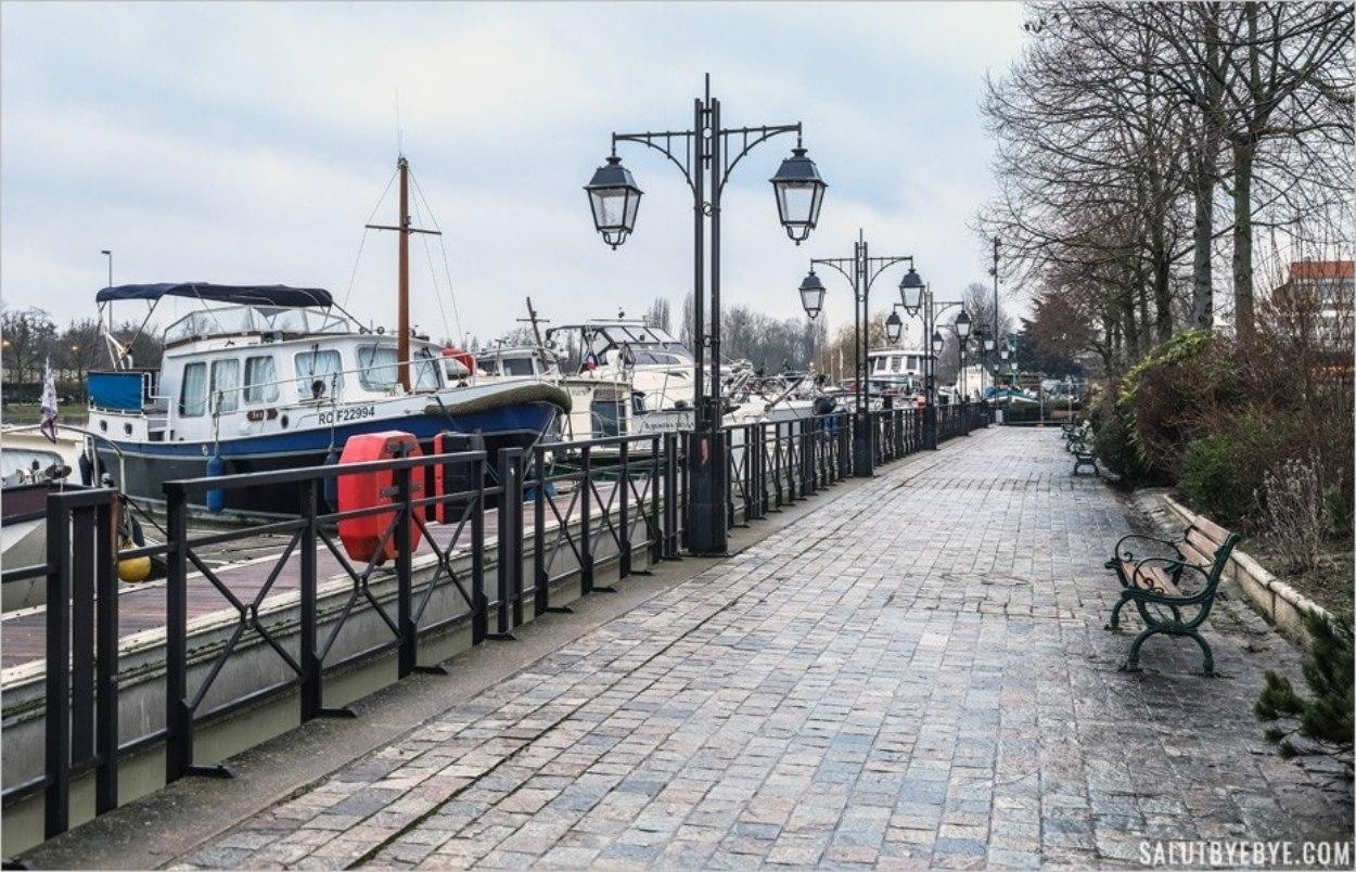 Port de Nogent-sur-Marne en janvier 2018