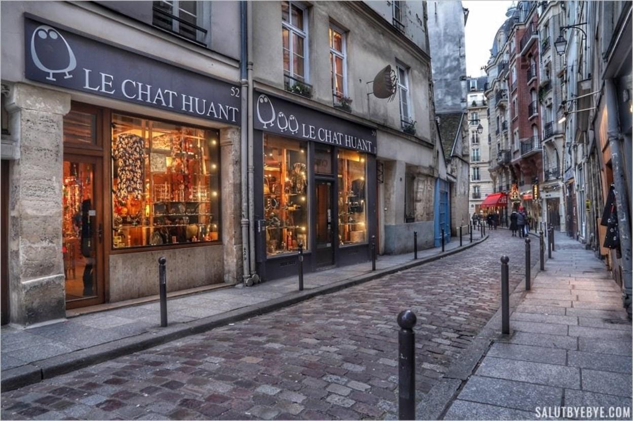 La rue Galande dans le Vieux Paris