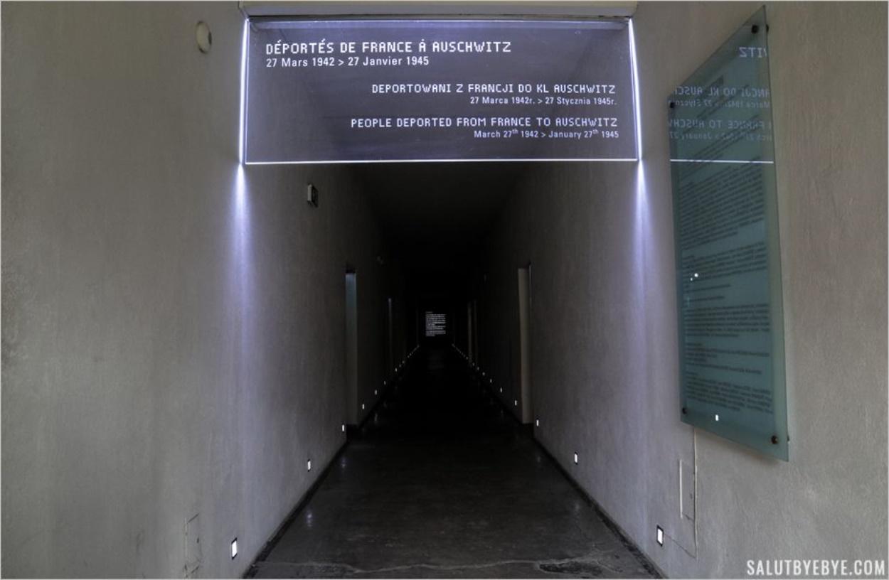 Le block 20 : hommage aux déportés de France - Auschwitz I