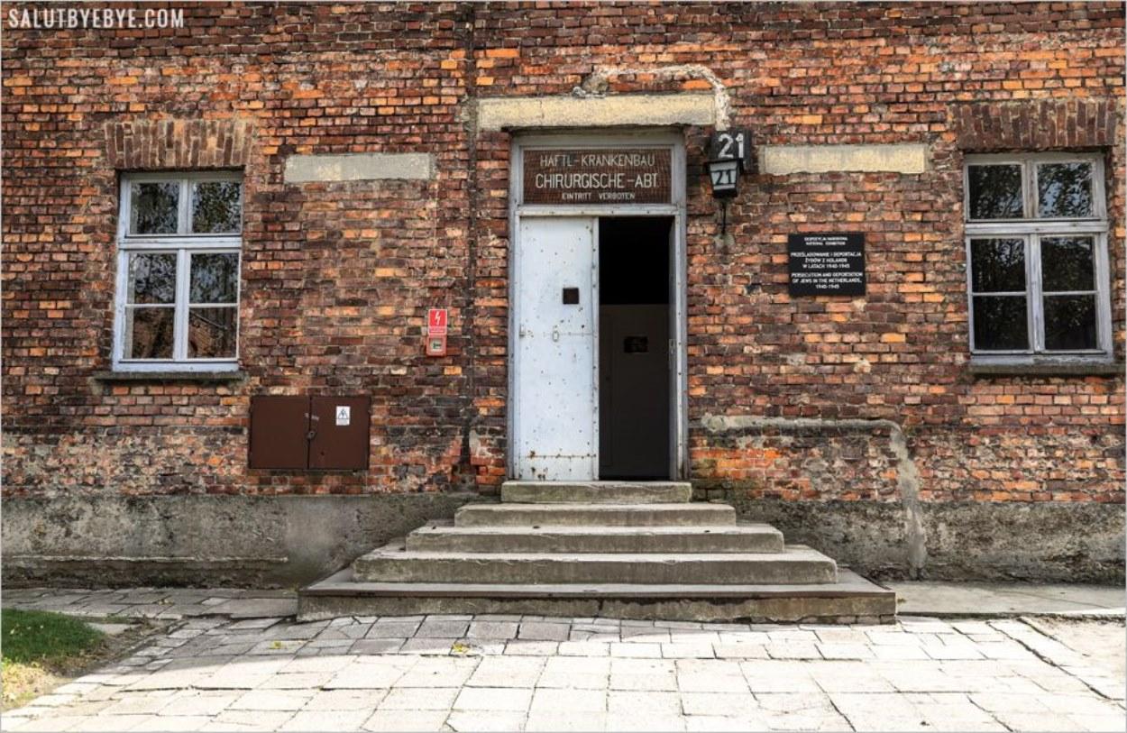 L'entrée du block 21 - Auschwitz I