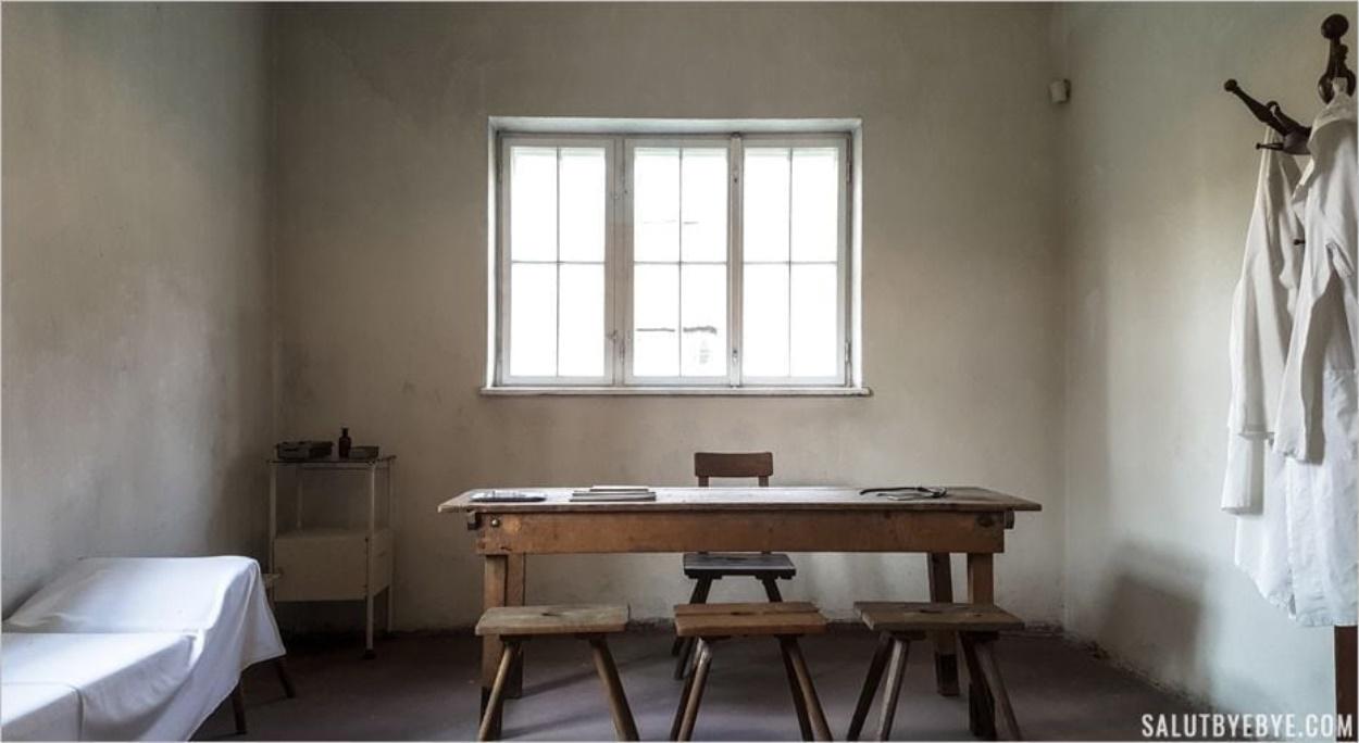Reconstitution d'un cabinet médical - Auschwitz I