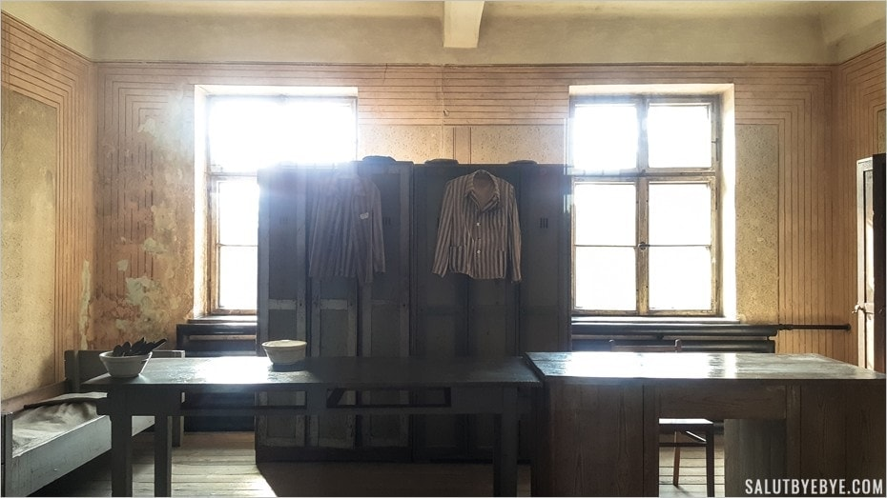 Chambre des déportés travaillant dans le Block 11 - Auschwitz I