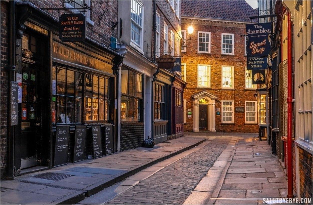 Shambles à York en Angleterre