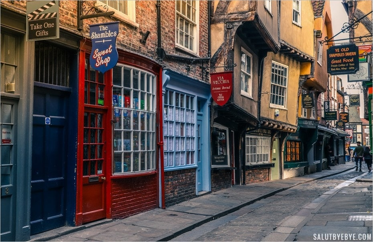 Ambiance des Shambles à York