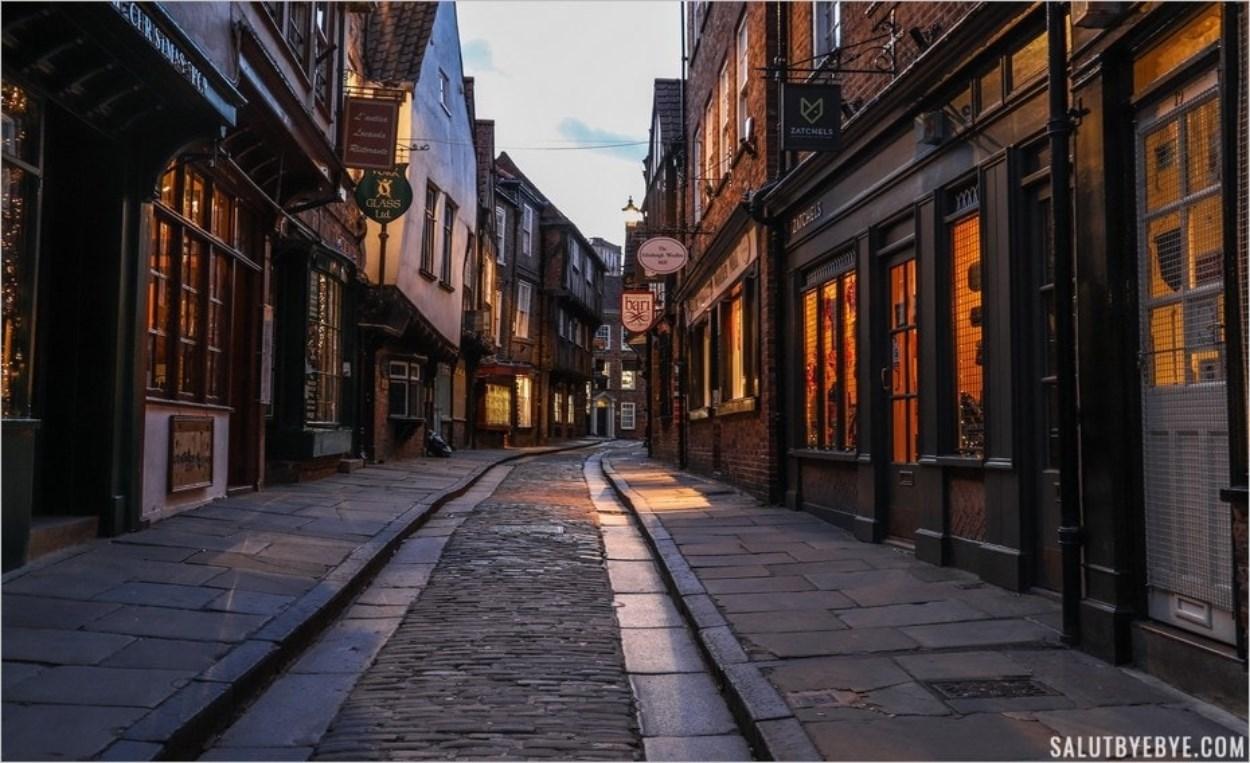 Les Shambles à York, ancienne rue des bouchers