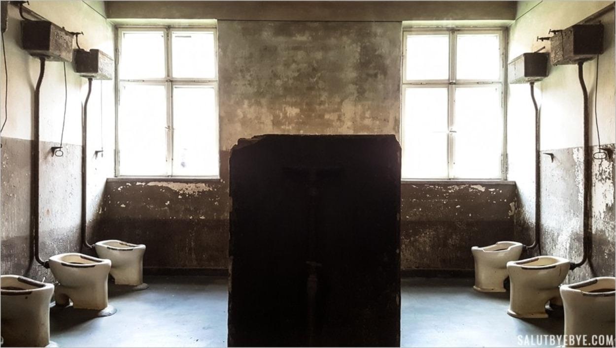 Toilettes collectives - Auschwitz I