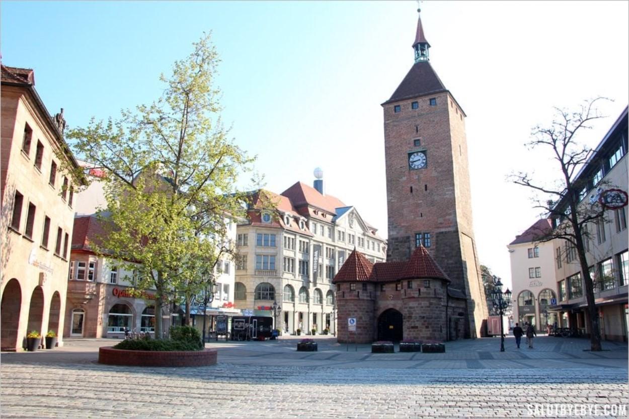 La Weiße Turm de Nuremberg