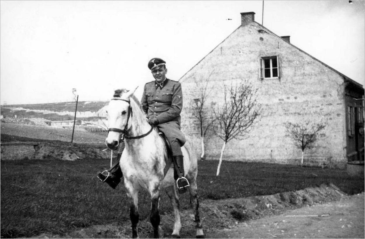 Le commandant nazi Amon Göth, qui a fait régner la terreur sur le camp de Plaszow