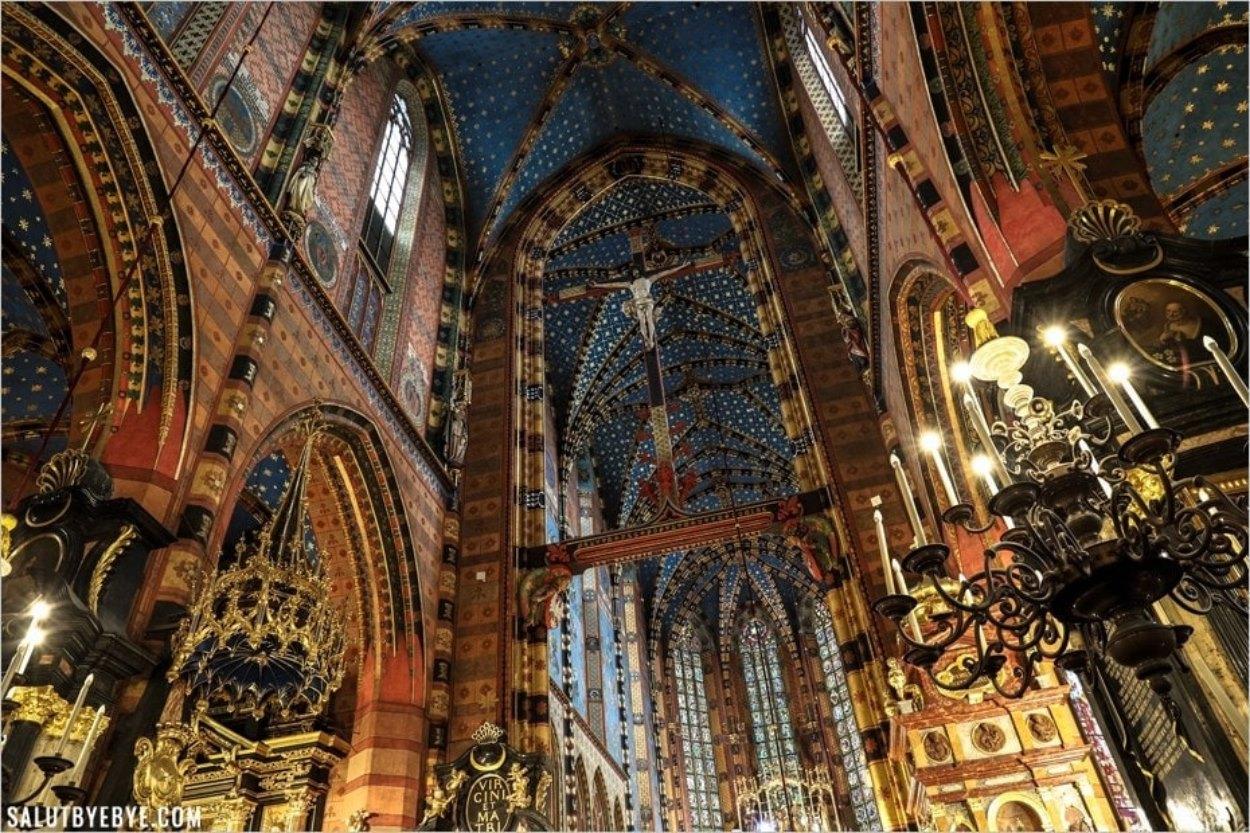 La basilique Mariacka à Cracovie en Pologne