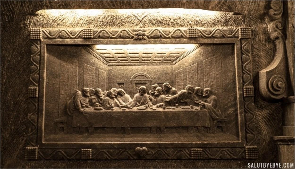 La Cène en sel dans la chapelle Sainte Kinga