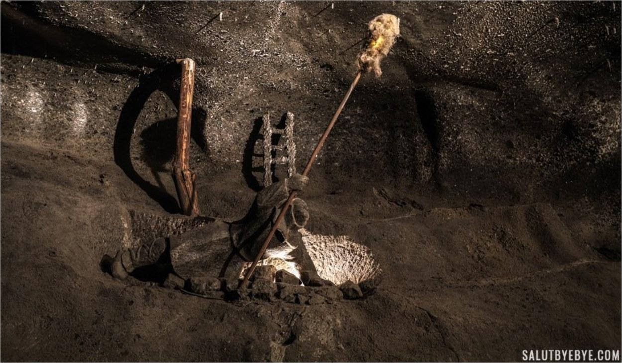 Brûler le méthane dans les mines de sel de Wieliczka
