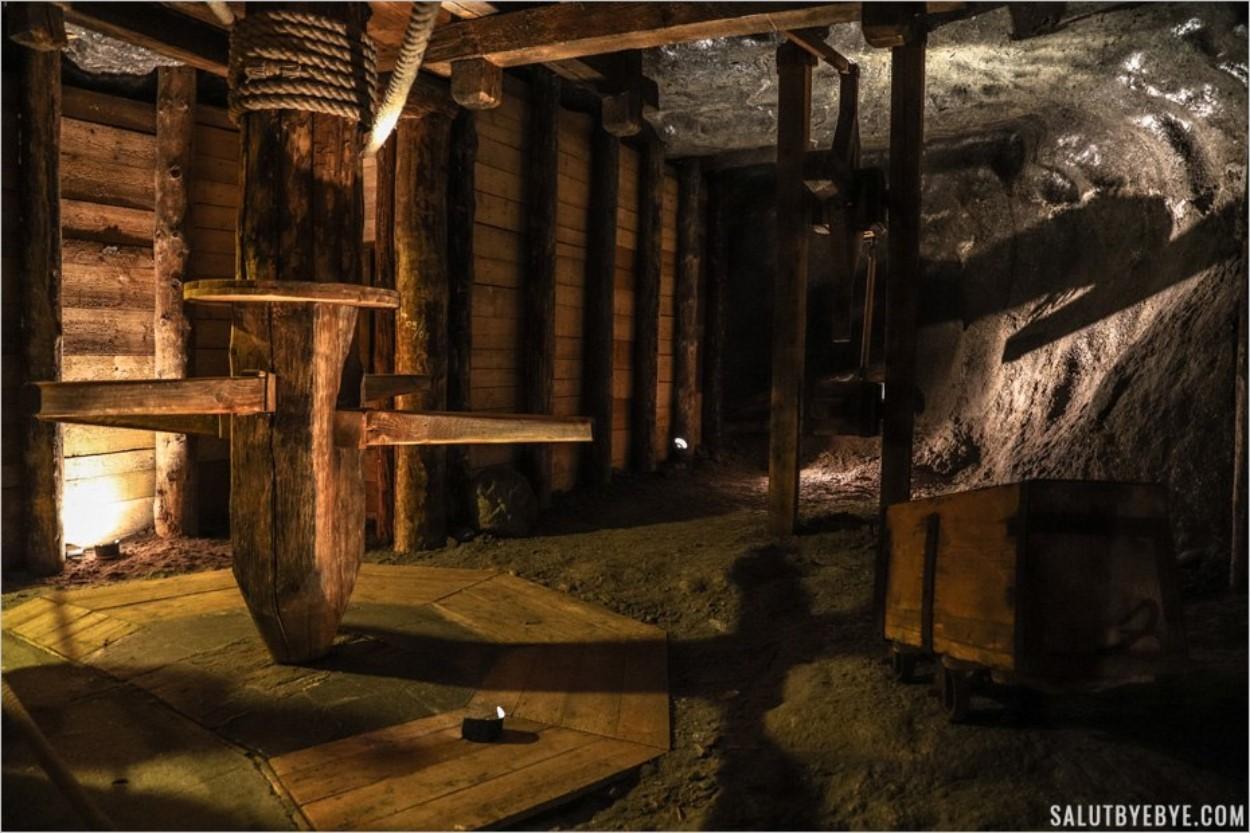 Equipement de la mine de sel de Wieliczka près de Cracovie