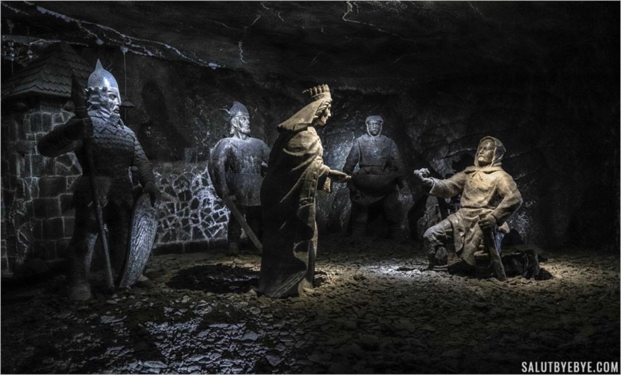 La légende du sel gemme à Wieliczka en Pologne