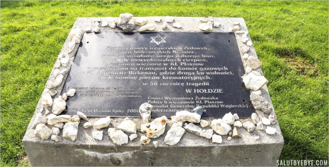 Plaque à la mémoire de Juives hongroises déportées