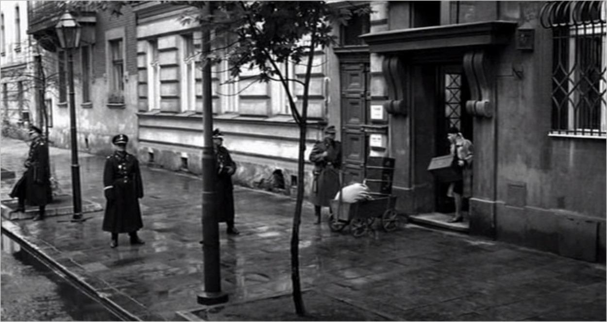 La rue Straszewskiego, lieu de tournage de La Liste de Schindler