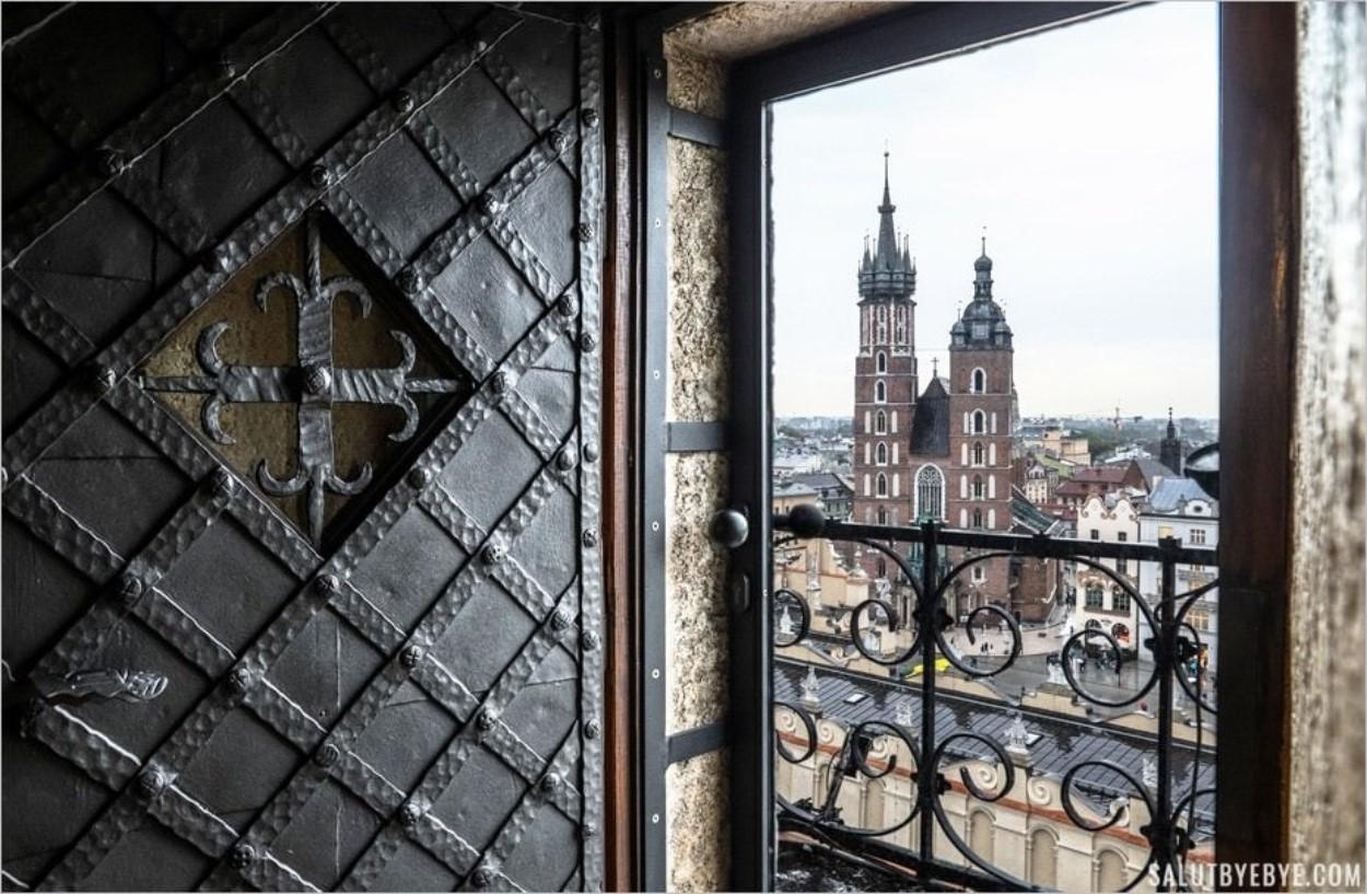 Belle vue de Cracovie depuis la Tour de l'Hôtel de Ville