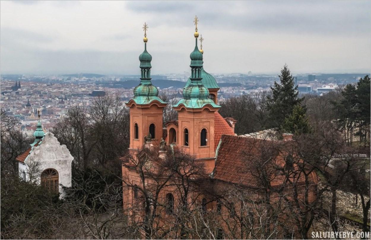 Eglise Saint Laurent de Prague et Chapelle du Calvaire