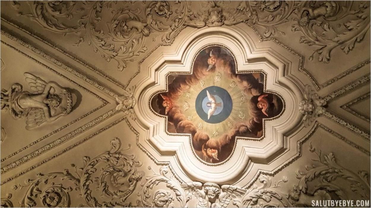 Plafond du couloir au couvent de Strahov à Prague