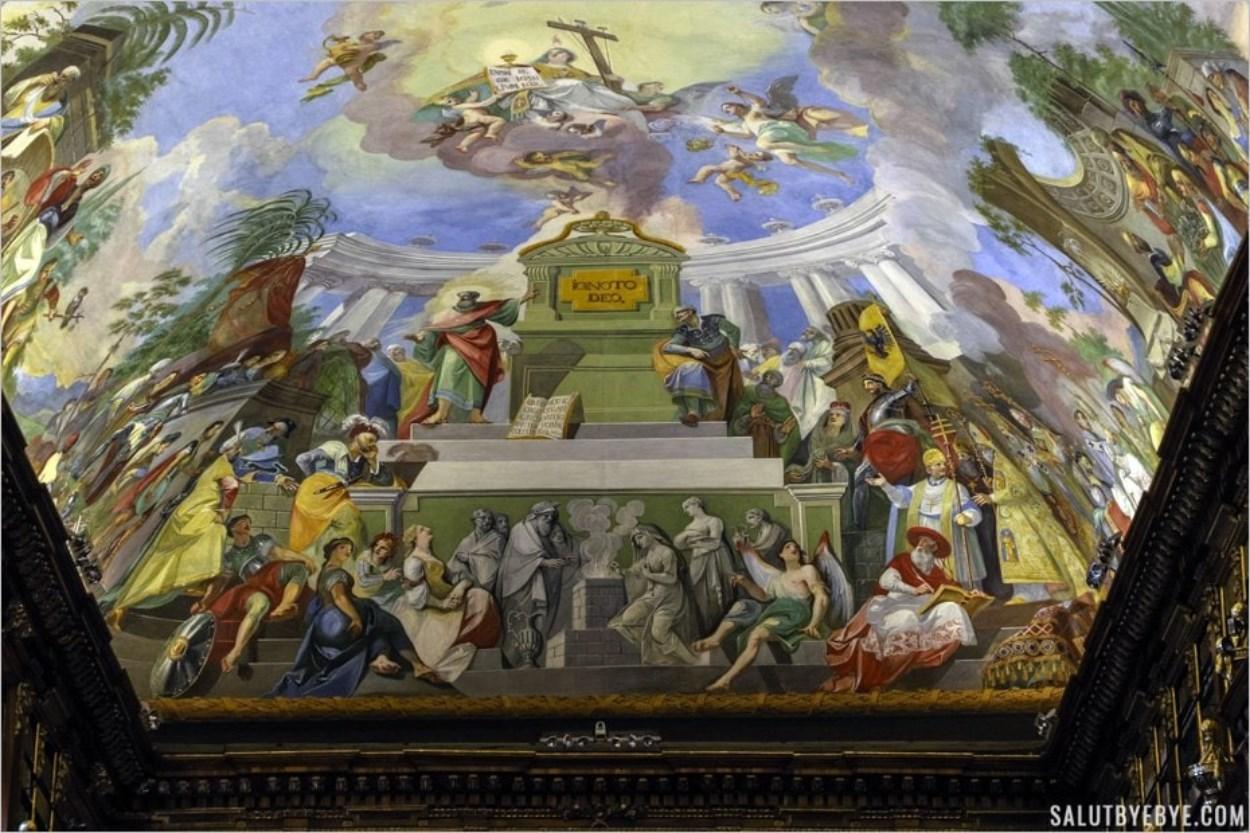 Plafond de la Salle de Philosophie du monastère de Strahov